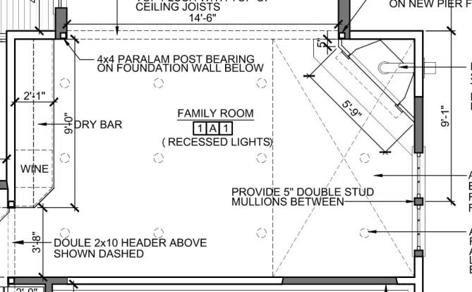 Sunroom Family room architect plans interior design renderings