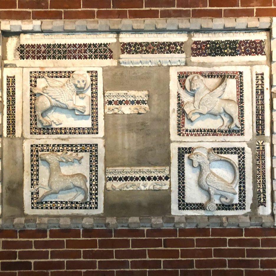 Linda Merrill staycation Isabella Stewart Gardner Museum wall tiles mosaics