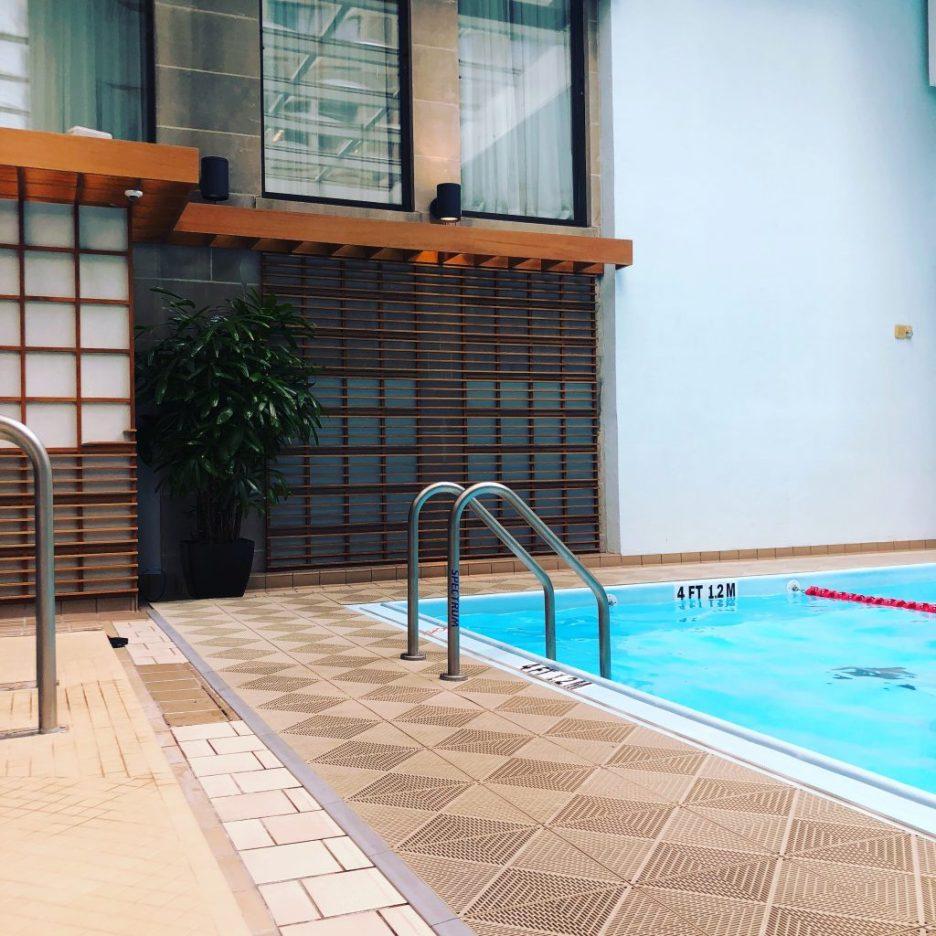 Linda Merrill Staycation Langham Hotel pool