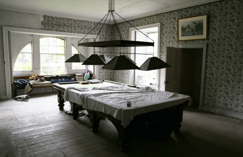 Ardgowan Estate Willow Room before Ordeal by Innocence