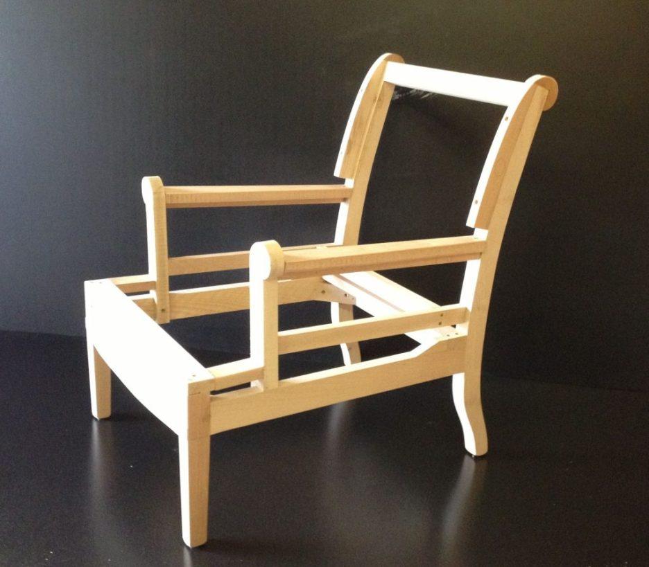Chair frame upholstery