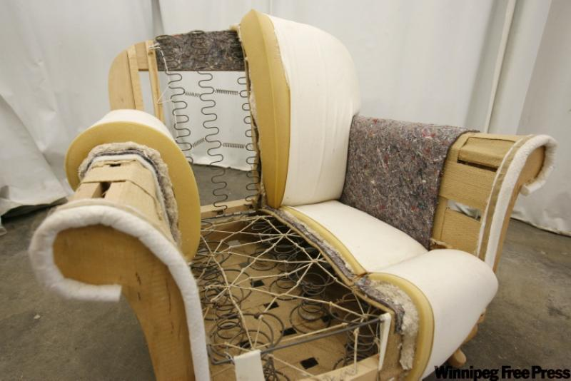Elan furniture deconstructed arm chair upholstery