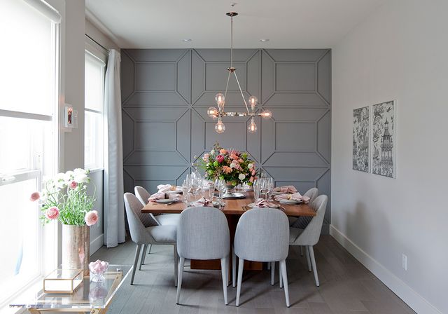 Jillian Harris Love it or List It gray pink Small dining room