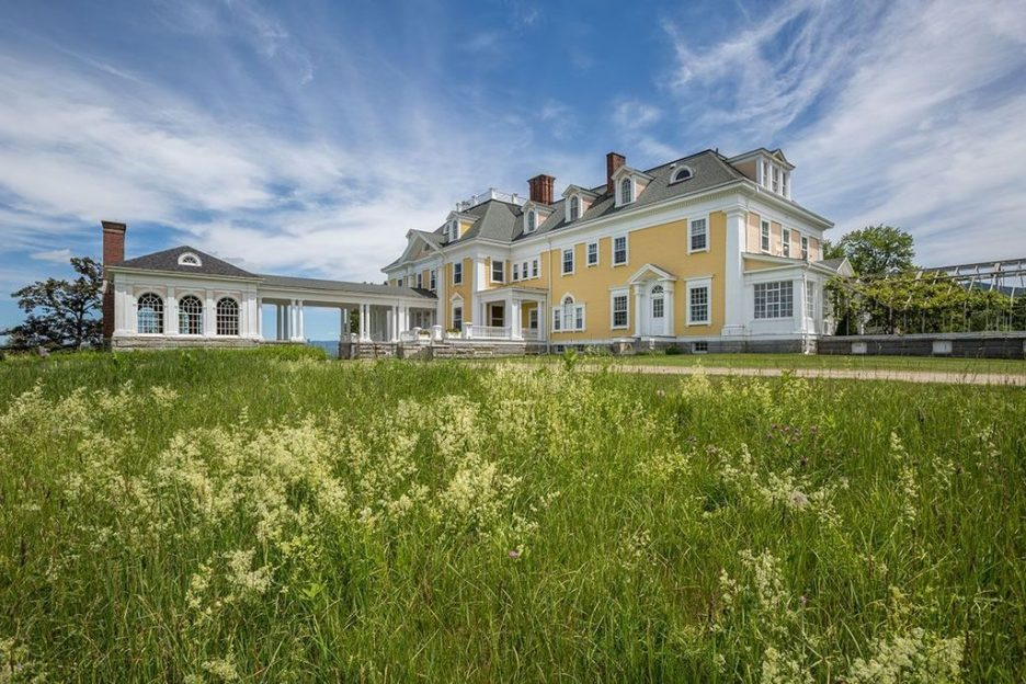 Burklyn Hall back of yellow house