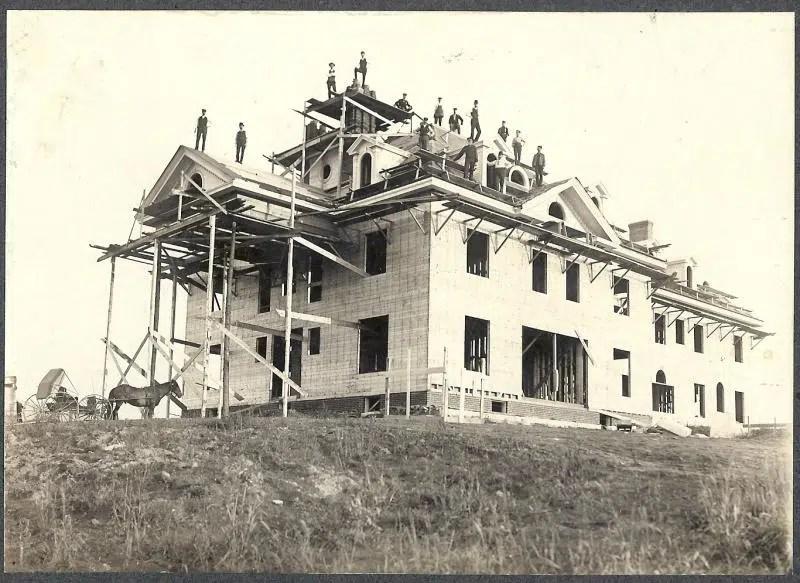 Burklyn Hall construction