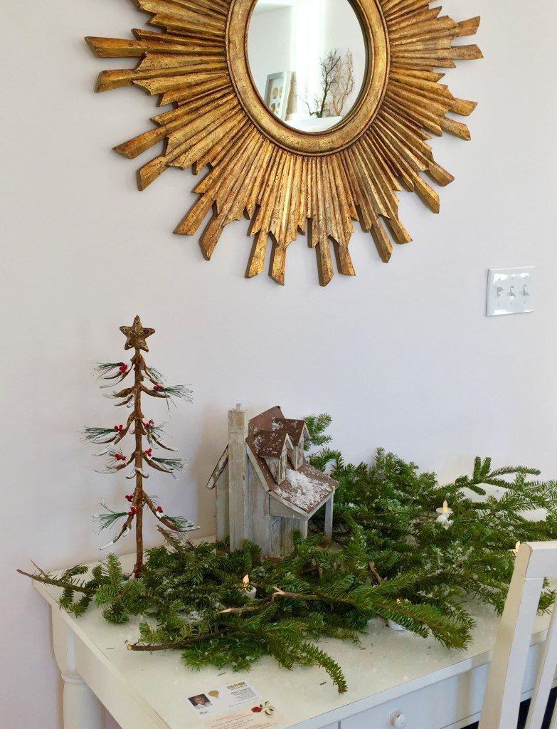 Newburyport Christmas decor tabletop decorating greens antique house