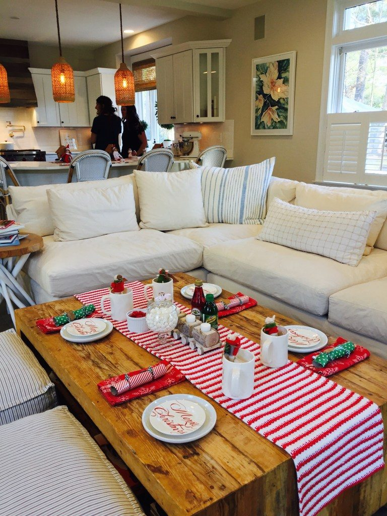 Newburyport Christmas tour hot cocoa coffee table dining