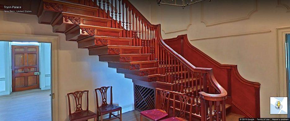 Tryon Palace Main Stair