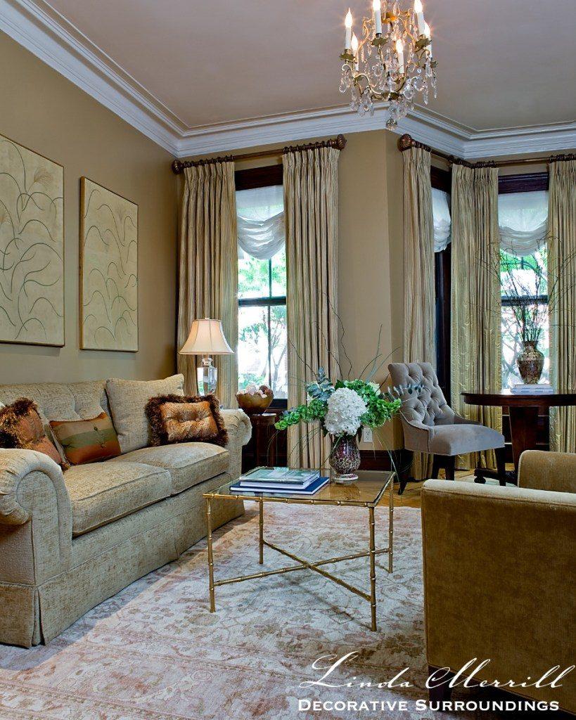 Linda Merrill design Boston townhouse living room south end 02116 02332 designer's net price