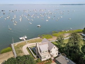 46 Winsor Street Duxbury Bay Ocean view aerial Duxbury Bay Home