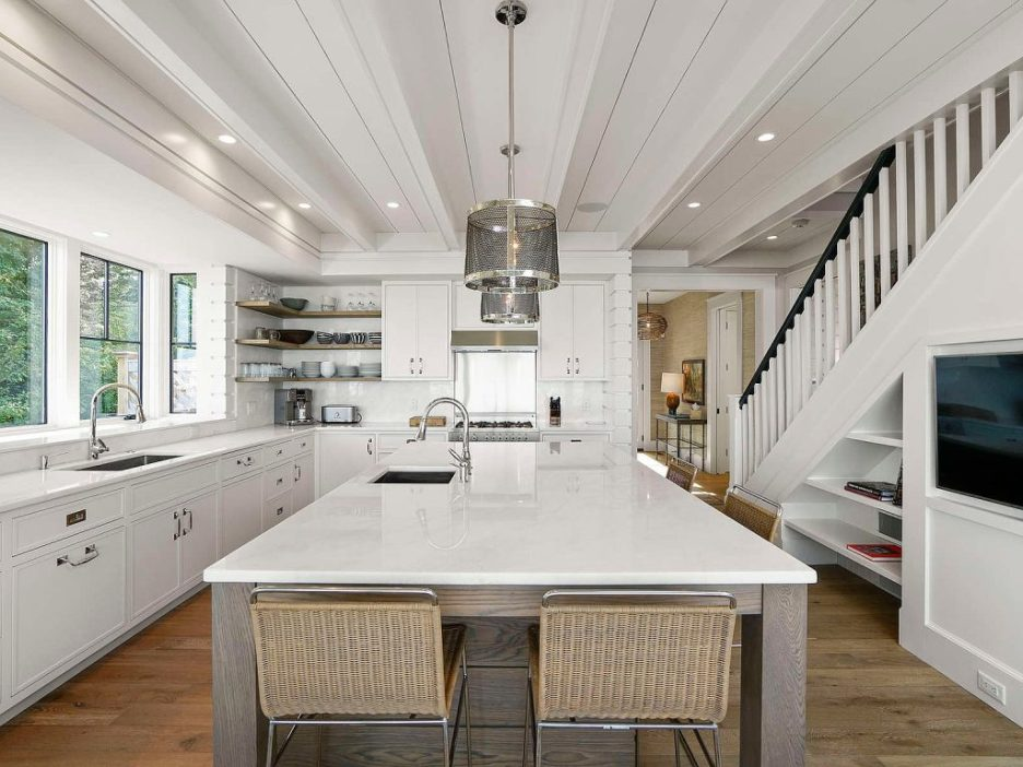 46 Winsor Street Duxbury Bay Ocean view white kitchen 2 Duxbury Bay Home