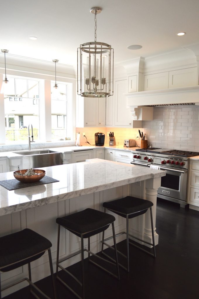 Newburyport Kitchen Tour 2019 Preview white kitchen marble Timberline