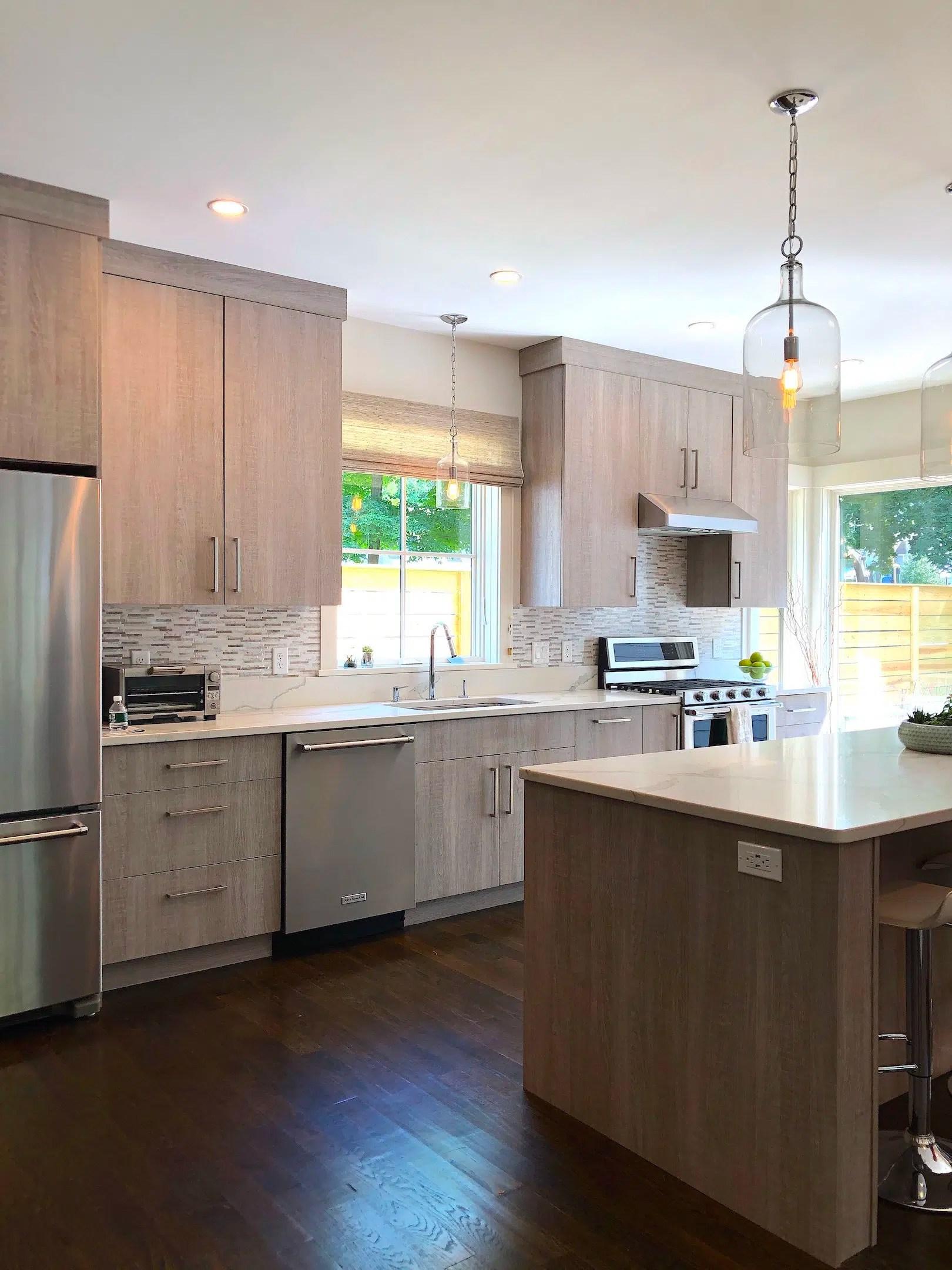 Merrimack St Kitchen 1 mid-size stylish kitchen