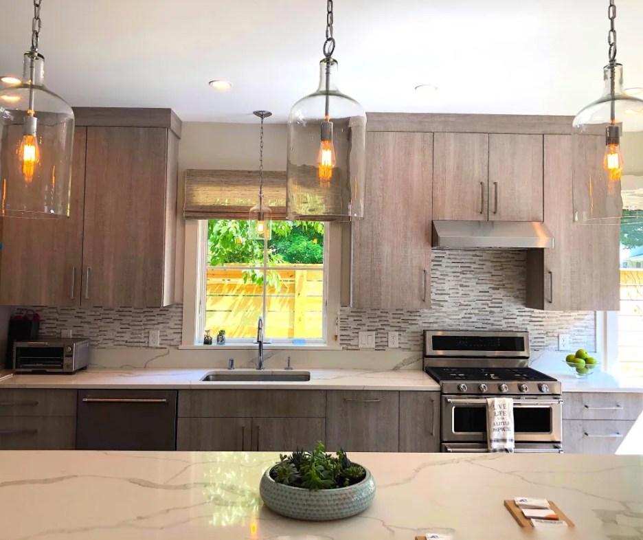 Merrimack St Kitchen Island pendants mid-size stylish kitchens