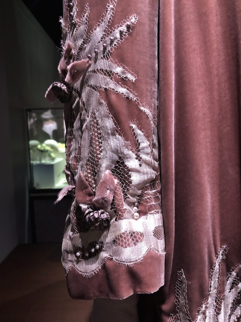 Hughes wedding coat detail Downton Abbey Exhibition 7268