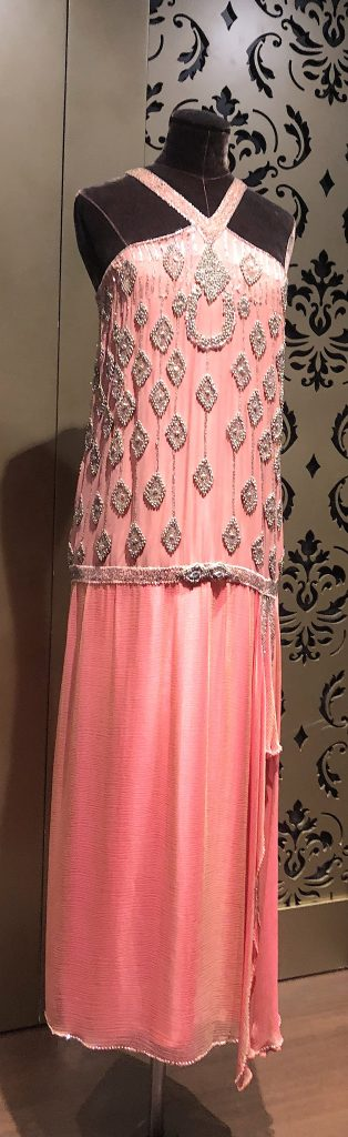Lady Edith coral evening dress Downton Abbey Exhibition