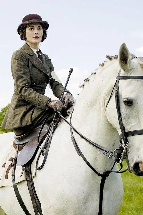 Lady Mary Riding Habit on horse
