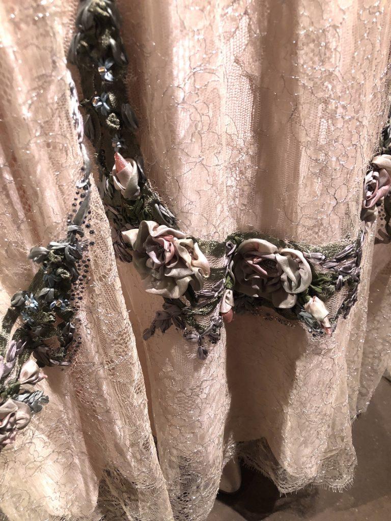 Lady Rose presention dress hem detail Downton Abbey Exhibition 7288