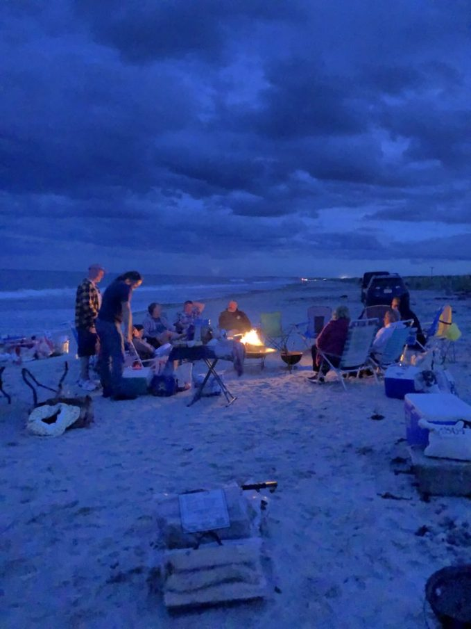 Nighttime on Duxbury Beach