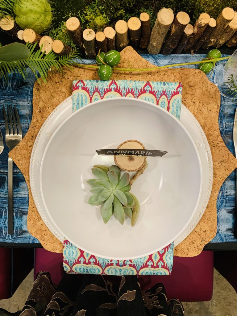 Designer Kelly Rogers Heading Home to dinner 2019 placesetting Beautiful Tablescapes