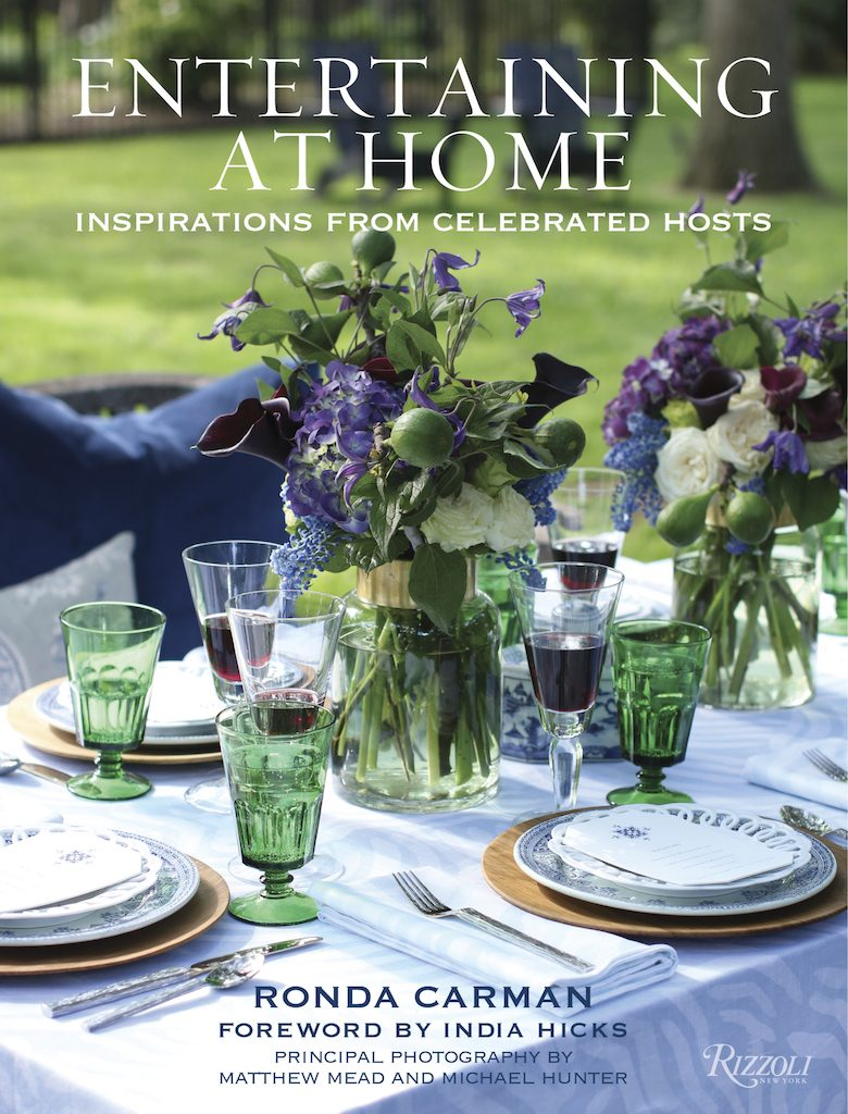 Ronda Carman Entertaining At Home book cover Denise and Scot McGaha dinner table Entertaining Fall 2019