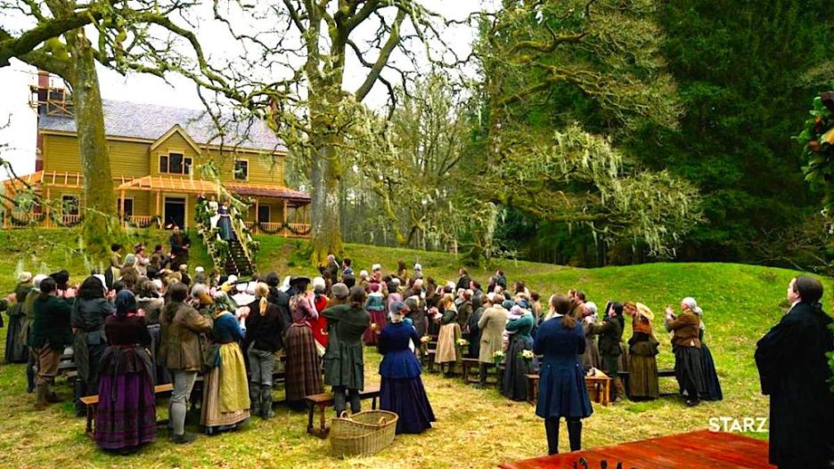 Starz Outlander the Ridge wedding crowd Big House outlander-online Season 5