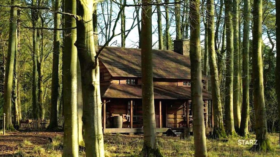 Starz Outlander The ridge Cabin exterior season 5