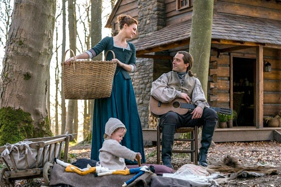 Starz Outlander The ridge the cabin Brianna Roger Jemmy