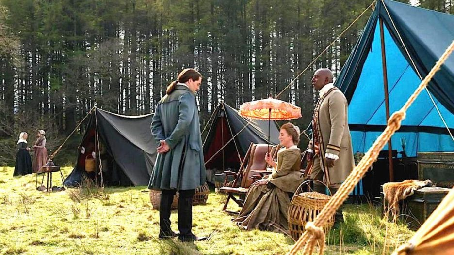 Starz outlander the ridge roger jacosta ulysses pavillion tents outlander-online season 5