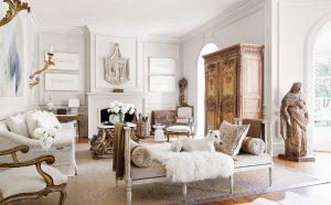Tara Shaw Soul Of The Home _p038a Photo credit Maxim Kim-Bee white living room antique furniture