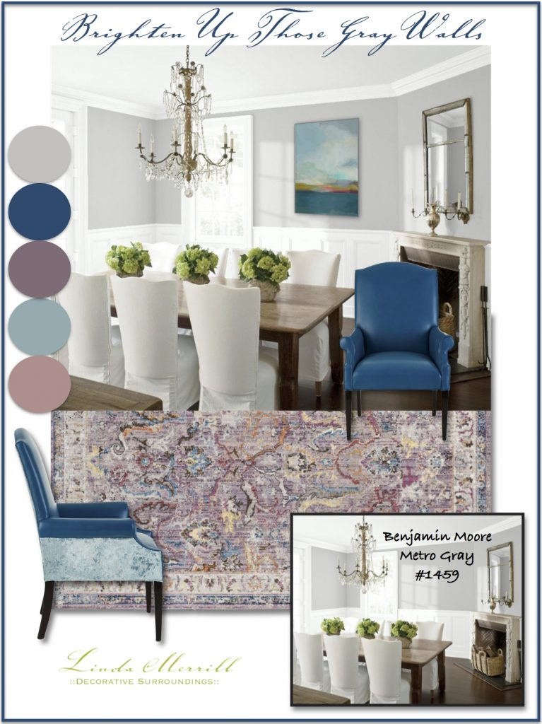 Brighten up those gray walls blue lavender