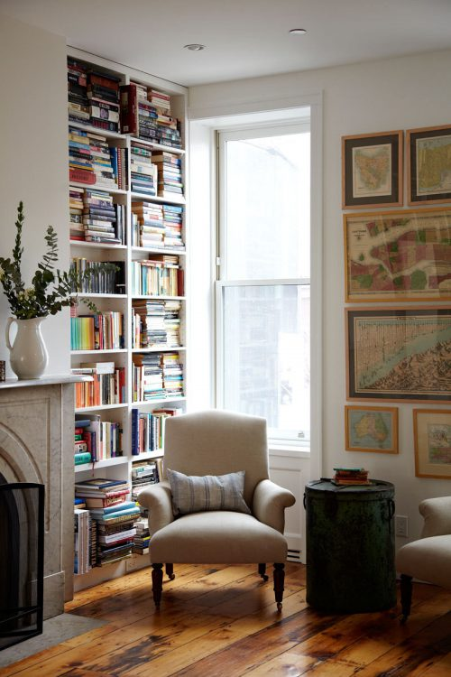 reading corner via Lonny Magazine Photo by Jessica Antola zen corner