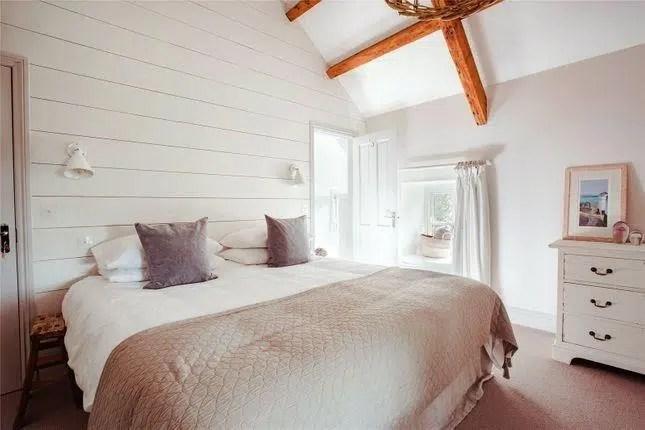 Rhydyclafdy, Pwllheli, Gwynedd Scandi New England Bedroom with shiplap