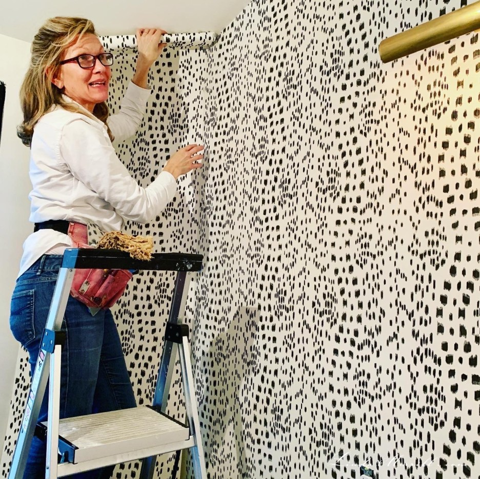 Linda Merrill design Melanie Harvey wallpaper installer Boston MA challenging spaces