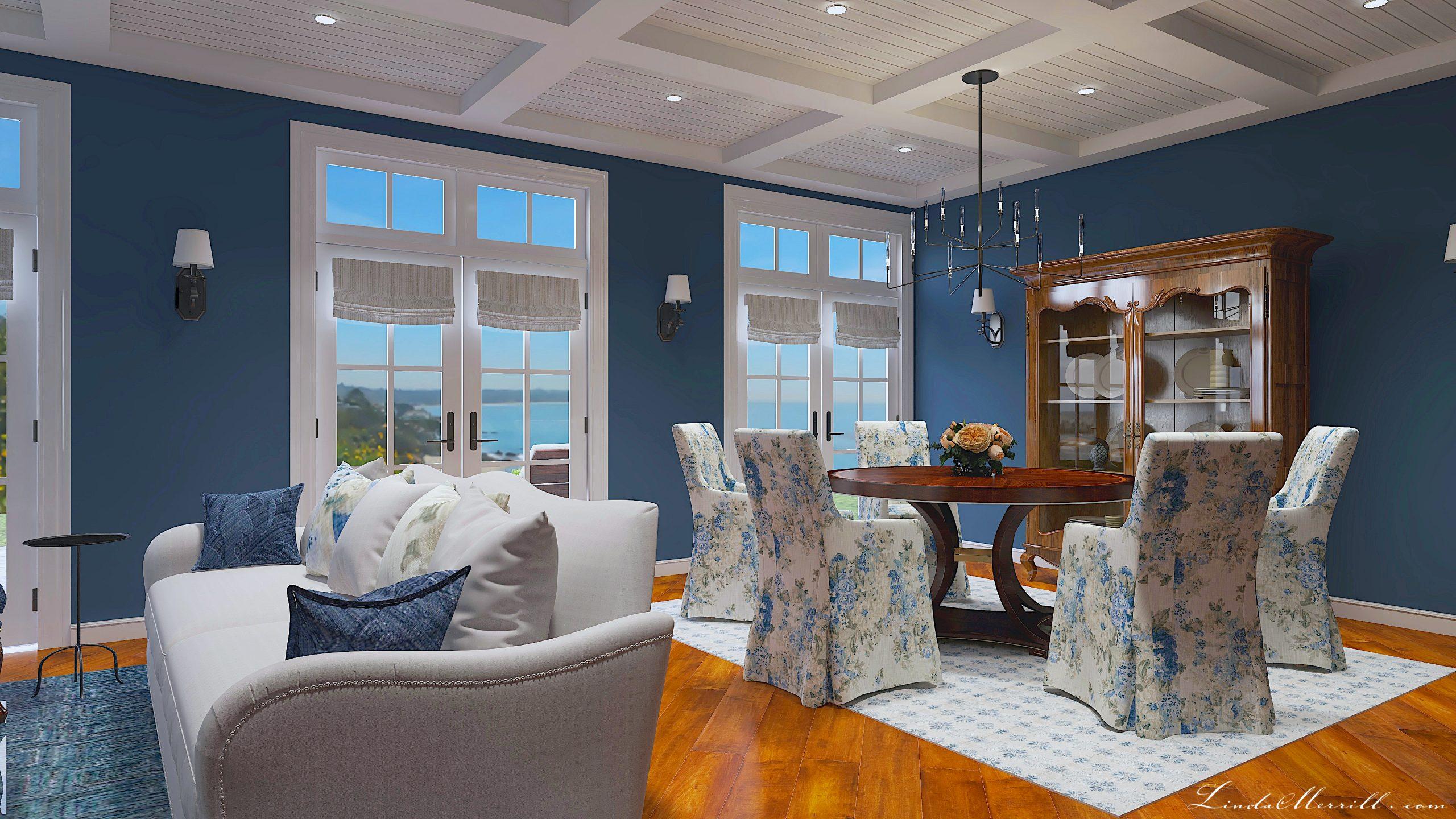 Linda Merrill Design New England interior design beacy coastal