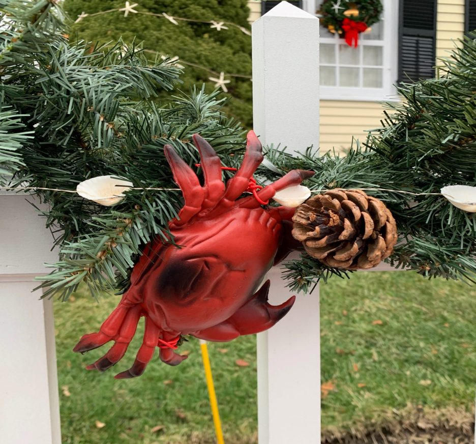 Newburyport 2020 Holiday House Tour Yellow Colonial High Street lobster garland
