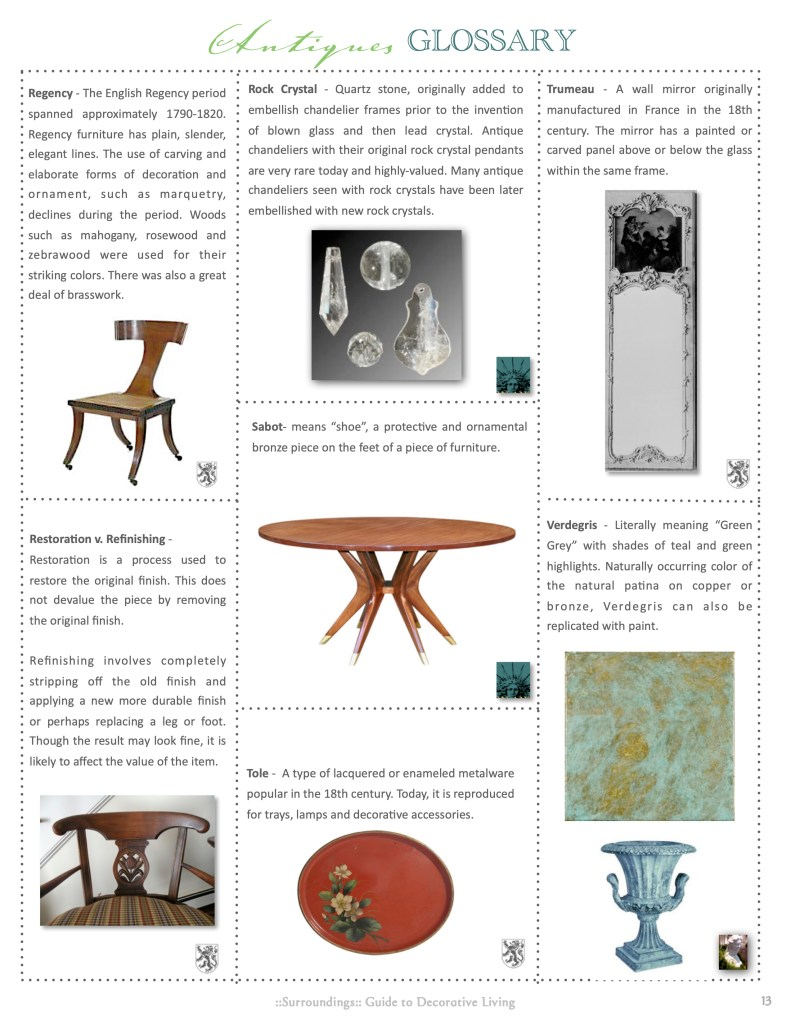 Antiques Glossary 3 Linda Merrill Decorative Surroundings