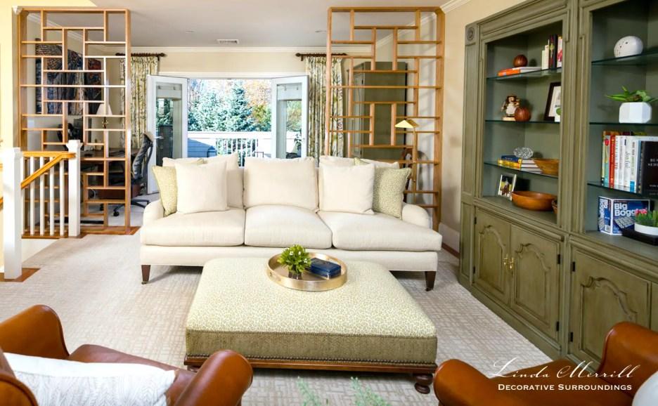 Linda Merrill Decorative Surroundings Hingham Sitting Room and Home Office 1