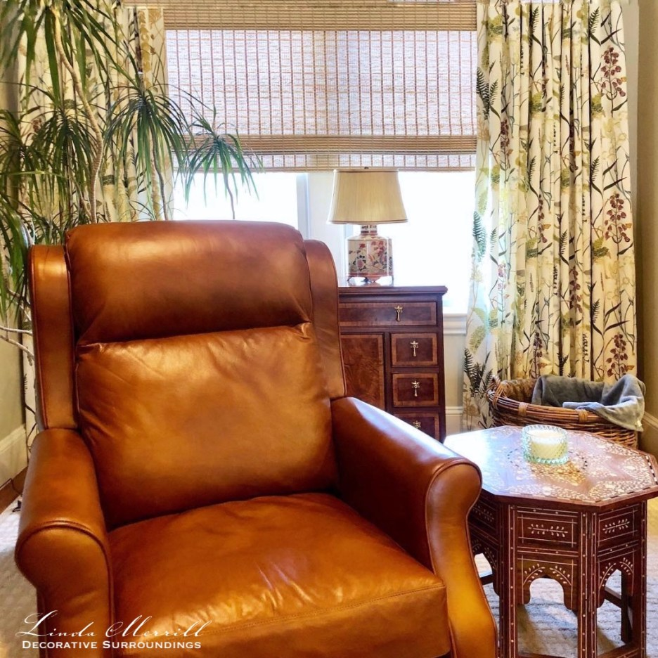 Linda Merrill Decorative Surroundings Hingham Sitting Room and Home Office Work From Home 4