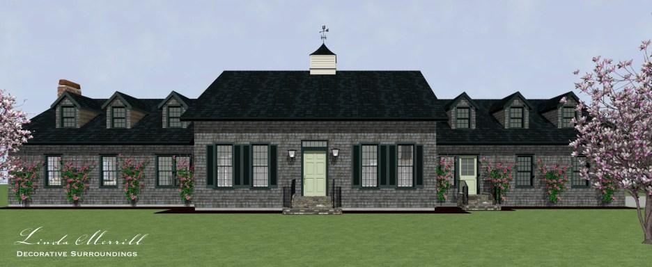 House Front Exterior Linda Merrill Dream Home