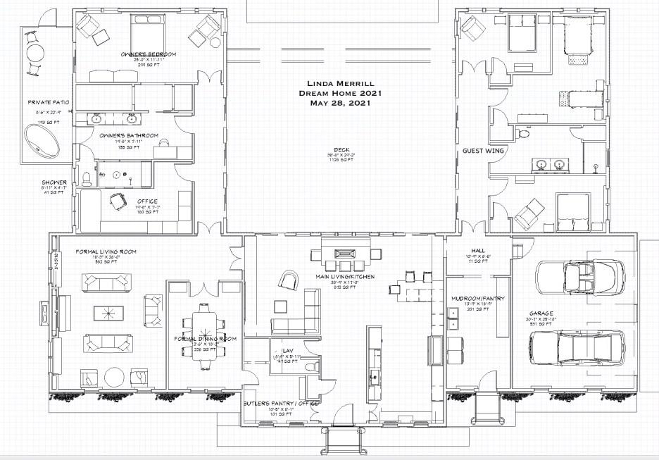 052821 2 Floorplan Linda Merrill dream home 2021 final layout