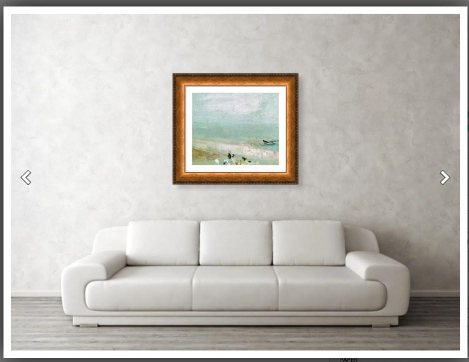 Joseph Mallord William Turner 24 x 20 gold frame over sofa Fine Art America wall art