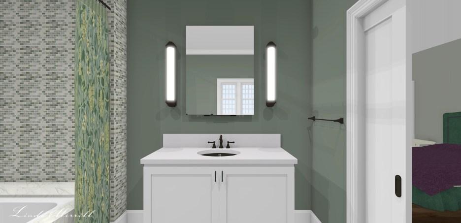 Linda Merrill dream home 2021 Guest Bath sink vanity