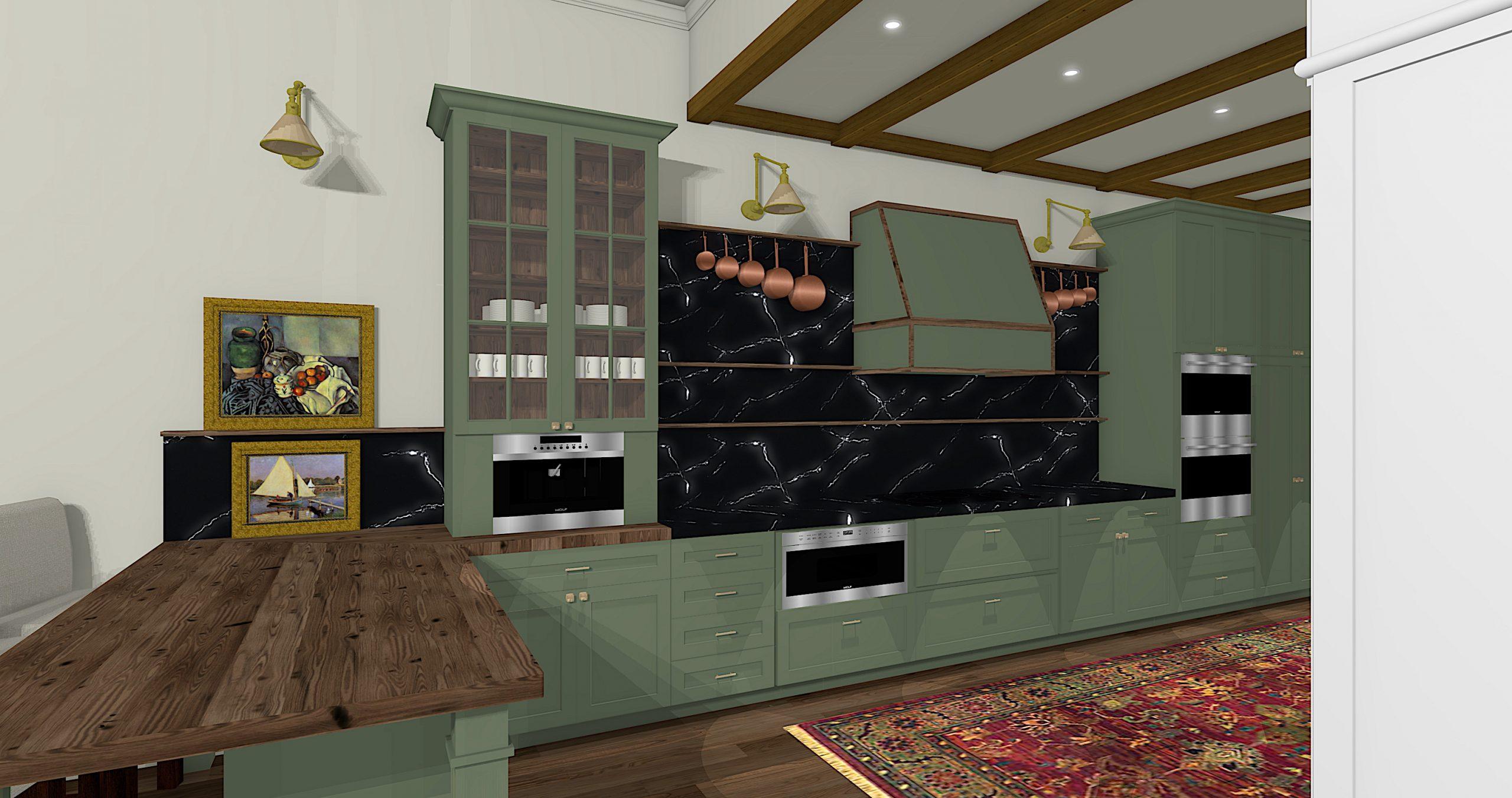 Linda Merrill Dream Home Kitchen in process soulful kitchen