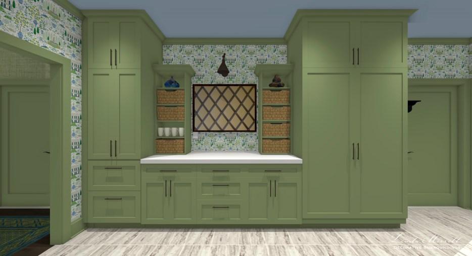 Linda Merrill Decorative Surroundings Dream Home 2021 Mudroom laundry Pantry wall