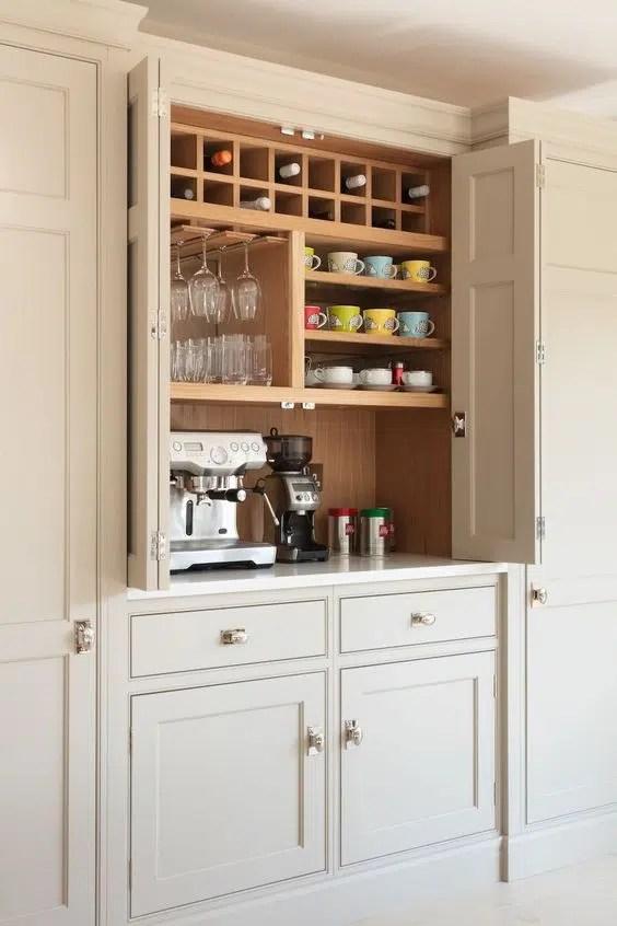 Humphrey Munson Design coffee station humphreymunson.co.uk mudroom pantry laundry
