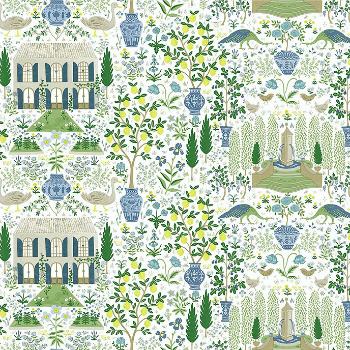 Wallpaper York Squeeze the Day Green