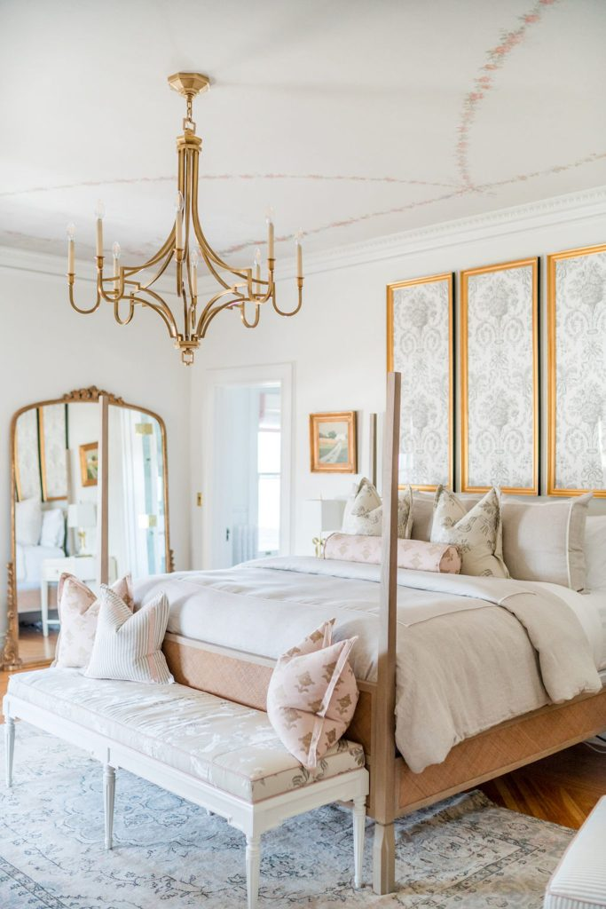 Photo by Rodeo and Co Burklynn Hall renovation bedroom floral ceiling