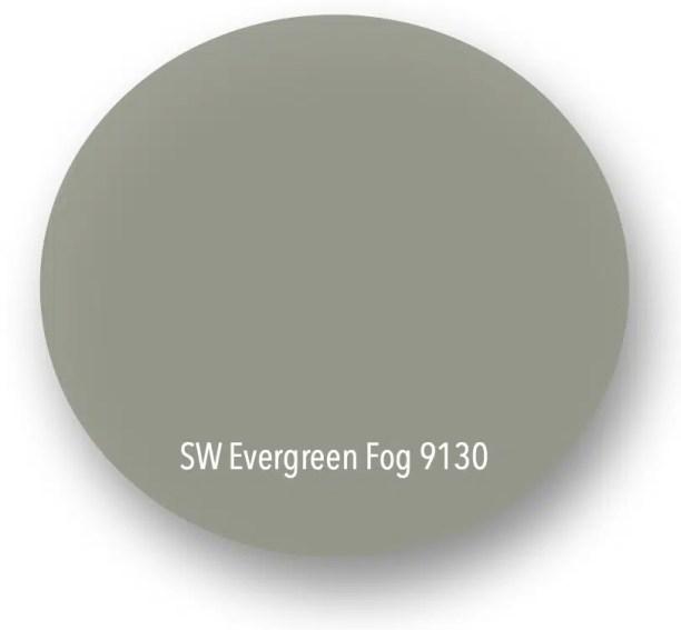 2 Sherwin Williams Evergreen Fog 9130 drop