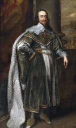 Full-length painting of English King Charles I
